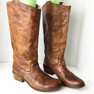 SZ 7 Frye Cognac Brown Tall Boots